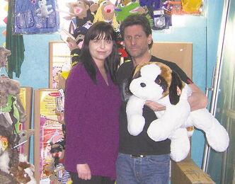 Twyla Moktaluk and Vince Gatti are proprietors of Newbridge Toy Shop.