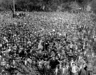 The 'Workers' Parliament' meets at Victoria Park (now part of present-day Stephen Juba Park) during the Winnipeg General Strike, in this photo taken June 13, 1919.