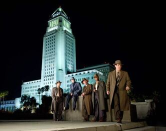 From left: Michael Pena as Officer Navidad Ramirez, Ryan Gosling as Sgt. Jerry Wooters, Robert Patrick as Officer Max Kennard, Anthony Mackie as Officer Coleman Harris and Josh Brolin as Sgt. John O'Mara in Gangster Squad.