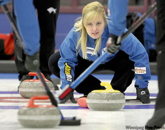 Brandon skip Lisa Blixhavn was 4-0 after the second day of round-robin action at the Scotties in Killarney.