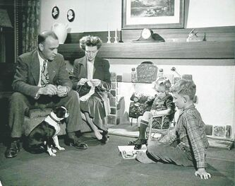 George Hunter's Typical River Heights Family from 1945.