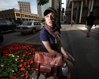 Kristy Rebenchuk is the first member of the Downtown BIZ's newly formed Community Homeless Assistance Team, offering help to the city's homeless.