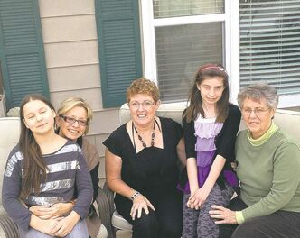 Something in common: from left, Brenda Lois, Reese Lois, Lois Howard, Olivia Lois and Lois Pelletier.