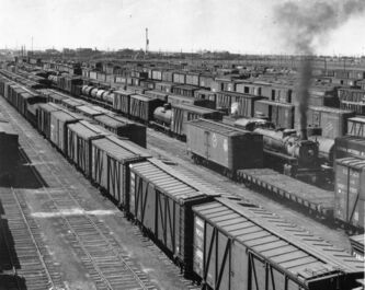 The CP Rail yards in August 1952.