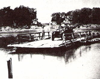 The ferry dock on the Red River at the end of present-day Whellams Lane is shown in this undated photo. The dock will be discussed during a tour of the north section of Kildonan Drive.