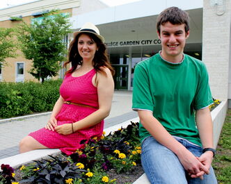 Garden City Collegiate grads Kristina Claeys (left) and Ryan Howell aren't slowing down as they get ready for their post-secondary workloads.