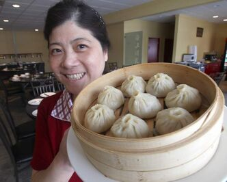 Yan Yan Shen with dumplings