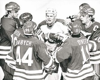If there was extra-curricular activity after the whistle, you could be assured Chris Nilan would be involved.