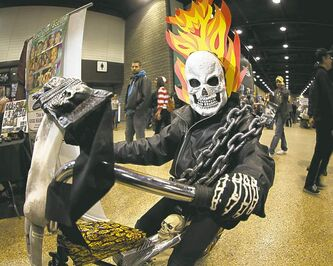 Cruise Brown, 10, portrays Ghost Rider.