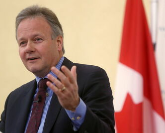 Bank of Canada governor Stephen Poloz speaks to the media following an interest rate  announcement in January.