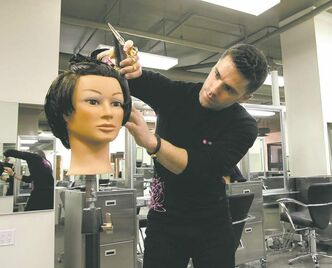 Derek Campbell will put in 3,000 hours of training to become a licensed hairstylist.