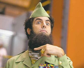 Sacha Baron Cohen plays the ruler of an imaginary African country.