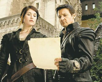 Gemma Arterton, left, plays Gretel and Jeremy Renner plays Hansel in