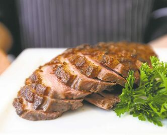 Grill duck breast prepared by apprentice chef Claire Snowball.