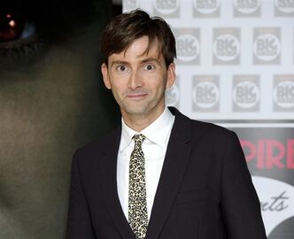 FILE - In Thursday, Aug. 11, 2011 file photo, British actor David Tennant arrives for the UK premiere of Fright Night at a central London venue.