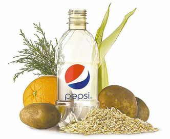 Pepsi has a bottle made entirely of plant material.