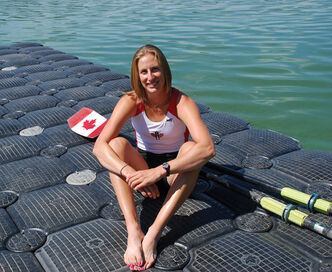 Janine Hanson joined the Winnipeg Rowing Club as a 17-year-old in 2000. Now she's an Olympic silver medallist.