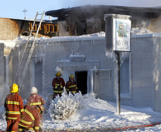 The Knysh Funeral Chapel in Beausejour was destroyed by the fire.