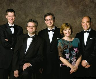 Chamber music stalwarts Stobbe (from left), Hooker, Moroz, Hoebig and Scholz are preparing for the next quarter century.