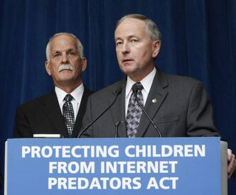 Public Safety Minister Vic Toews (left) and Justice Minister Rob Nicholson on Tuesday announced the Protecting Children from Internet Predators Act. A chorus of opposition started almost immediately.