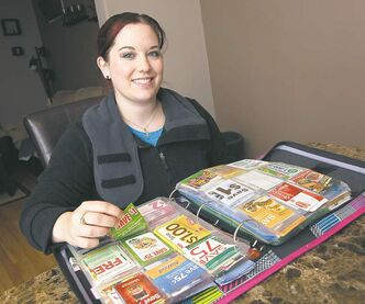Extreme couponer Carmella Dinardo says it only takes a couple of hours per week to organize all her coupons.