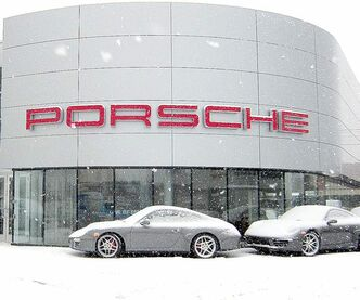 The new Porsche store, which measures about 8,000 square feet, stands on the spot on Pembina Highway that used to be the body shop for Auto Haus Volkswagen Porsche.