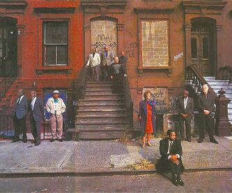 In 1996, 10 surviving members  of the famous shot got together and stood in their original places for Life magazine.