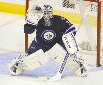 Goalie Michael Hutchinson is one of several players who spent time with the Winnipeg Jets at the end of the season and will rejoin the St. John's IceCaps for their Calder Cup run.