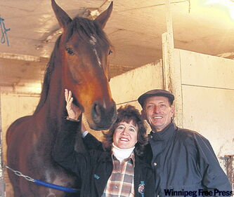 Vicky and Gary Baze, both accomplished riders, could have a considerable impact at Assiniboia Downs this season.