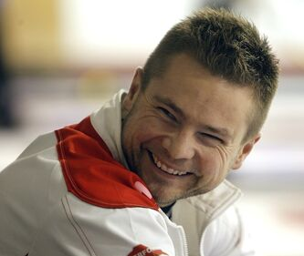 Mike McEwen smiles during the Safeway Championship in February.