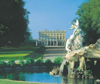 The Cliveden House Fountain of Love main drive.