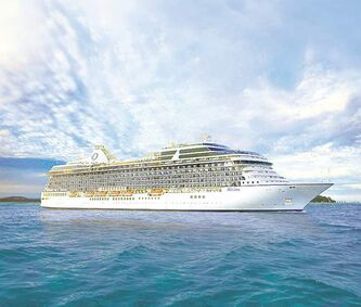 Oceania�s Riviera prior to christening cruise in May.