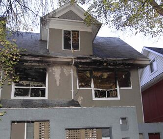 An overnight fire damaged a house at 761 McMillan Ave.
