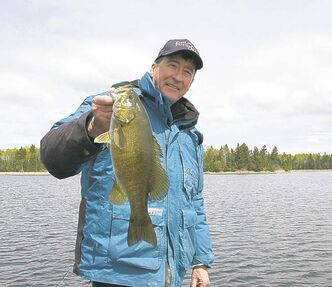 Don Lamont with a late-season smallmouth.