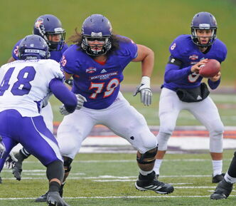 Offensive lineman Tchissakid Player (#79) is eager to make the most of his opportunity after being drafted by the B.C. Lions.