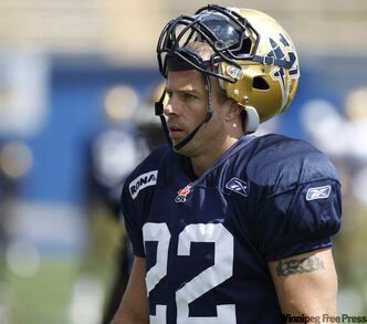 Shawn Gallant during a Bomber practice this year.
