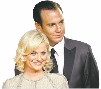Amy Poehler, left, and Will Arnett.