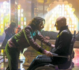 James McAvoy, left, and Patrick Stewart in 'X-Men: Days of Future Past.'