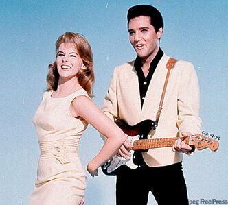 Elvis and Ann-Margret in Viva Las Vegas.
