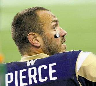 Winnipeg Blue Bomber quarterback Buck Pierce