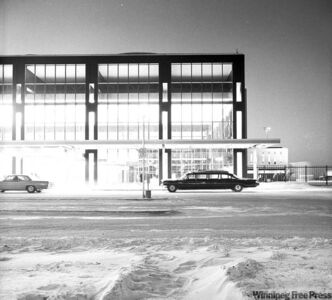 The Winnipeg International Airport terminal building taken from a collection of airport images compiled between 1959 and 1969.
