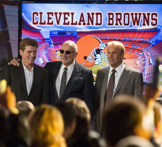 Denis Leary, from left, Frank Langella and Kevin Costner star in 'Draft Day.'