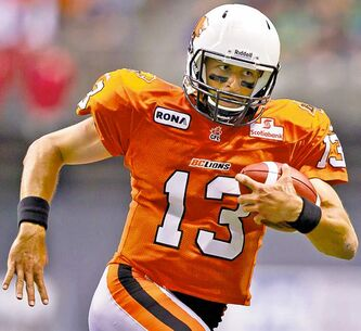 B.C. Lions' backup pivot Mike Reilly should be  in the  Bombers' sights.
