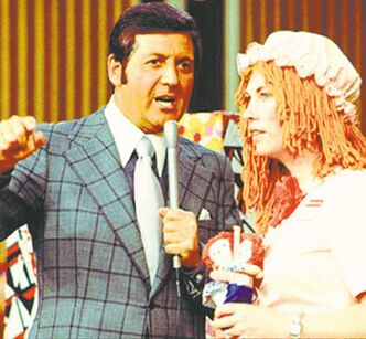 Hall and a contestant deal in the '70s.