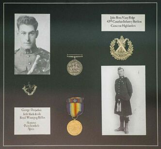 Neil Ross has memorabilia from both his grandfathers who were in the First World War.