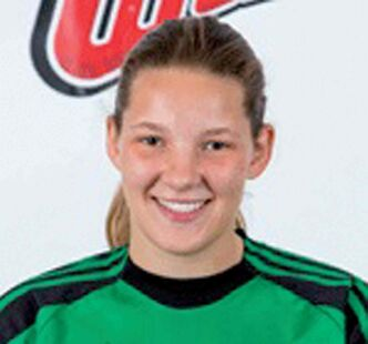 Women's soccer player Taylor Thorkelsson is one of this week's Wesmen Garbonzo's Players of the Week.