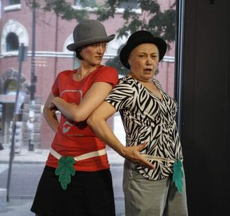 Nancan Boogie Productions present scenes from Dog Act, by American playwright Liz Duffy Adams, at the Winnipeg Free Press News Café on Tuesday.