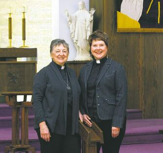 Rev. Kolleen Karlowsky-Clark (left) and Rev. Jennifer Marlor will take part in an ancient Easter vigil.