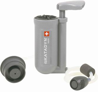Katadyn Hiker, arguably the most popular hand-pump filter on the market.