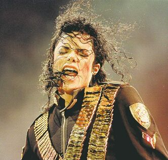 Jackson performs during his 1993 Dangerous tour, which was aborted when he went into rehab.